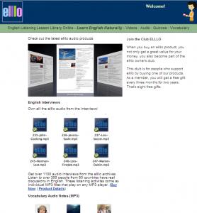 Фрагмент сайта ELLLO