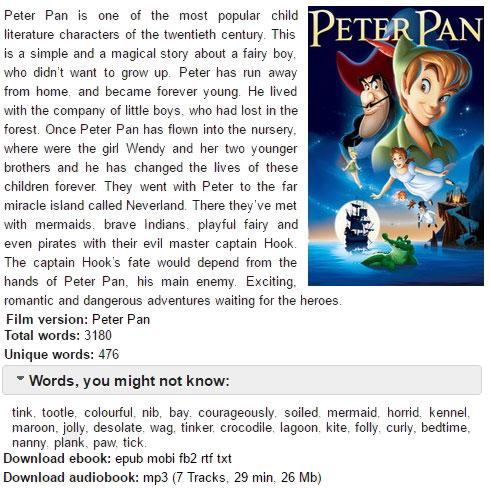 Книги для чтения на английском, Peter Pan