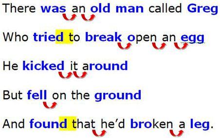 Английские звуки- лимерик