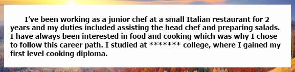 Собеседование на английском повар