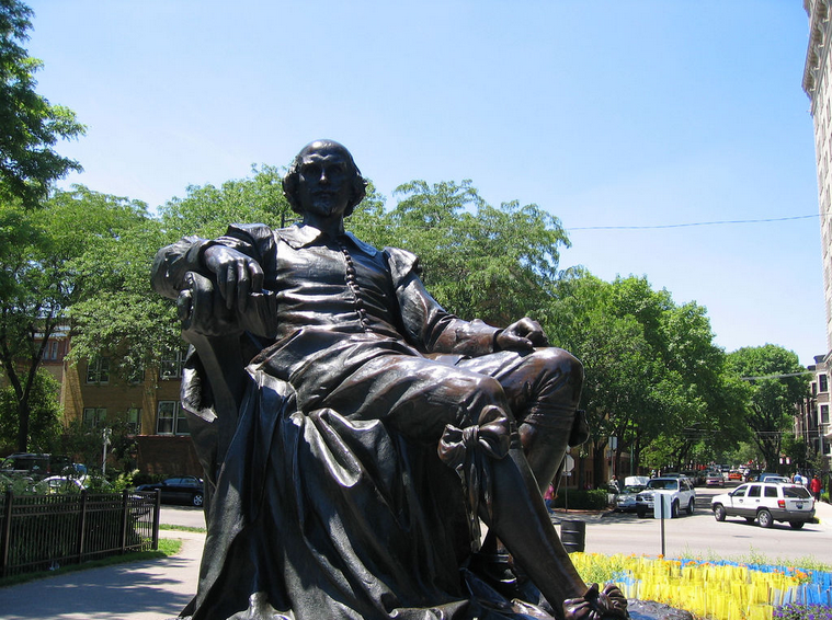 Про Шекспира на английском - скульптура Шекспира