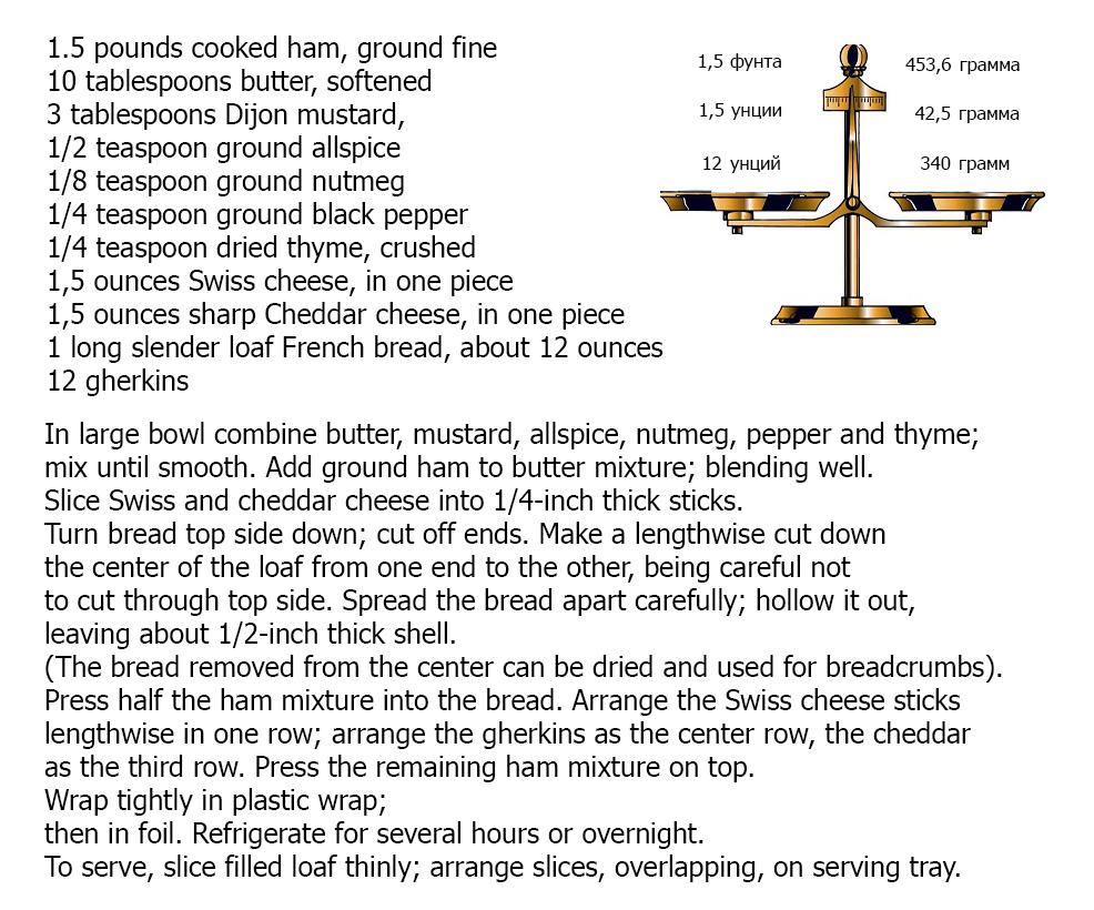 Рецепт сэндвича на английском с ветчиной и сыром