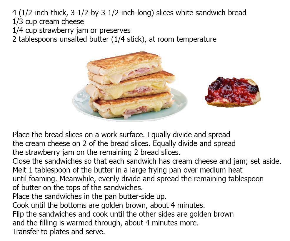 Рецепт сэндвича на английском с повидлом