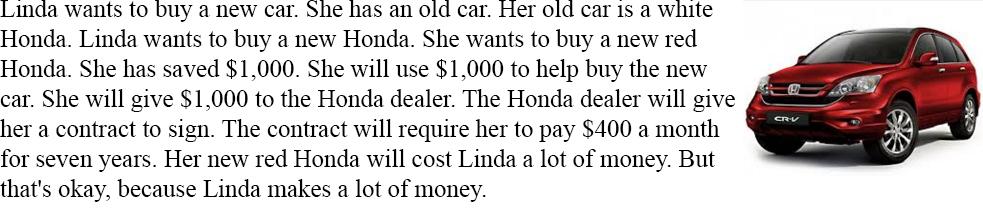 Читать и слушать на английском - To buy a new car