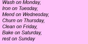 Дни недели на английском - Wash on Monday