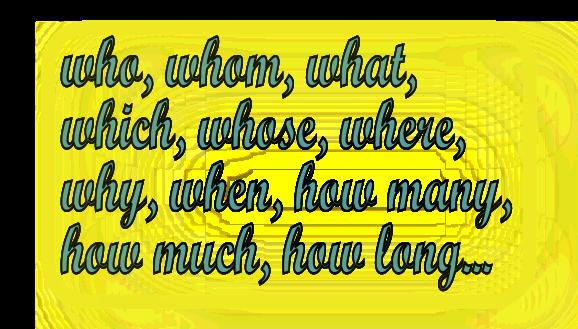 Порядок слов в английском вопросе - на первом месте question words