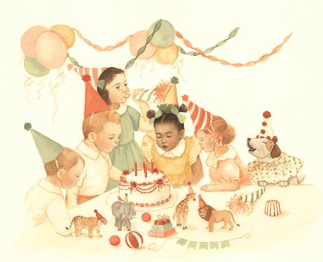 birthday party - миниатюра к небольшому диалогу о праздновании дня рождения