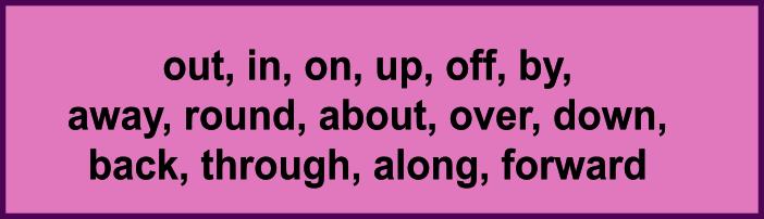 Фразовые глаголы (phrasal verbs), частицы