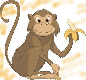 животные на английском - обезьяна