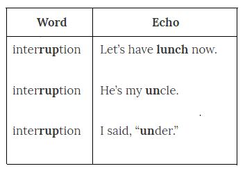Английский ритм - упражнение Эхо