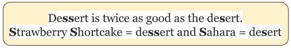 Запомнить написание dessert и desert