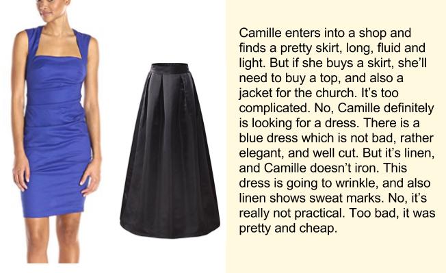 Покупка платья, английский текст, часть 2