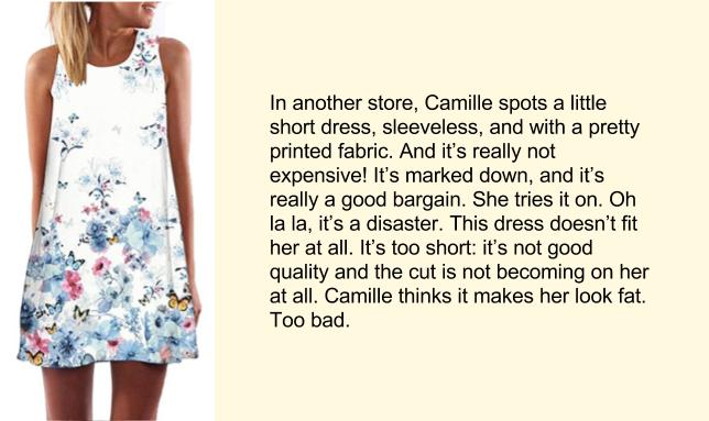 Покупка платья, английский текст, часть 3