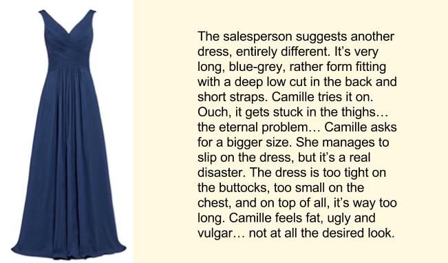Покупка платья, английский текст, часть 4
