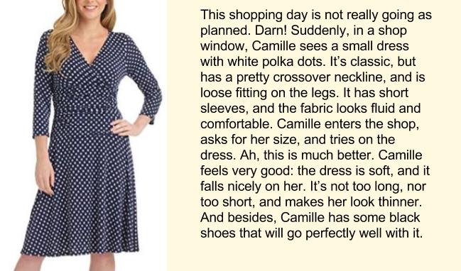 Покупка платья, английский текст, часть 5