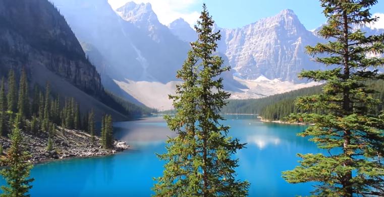 Провинции Канады - Альберта - озеро Морейн