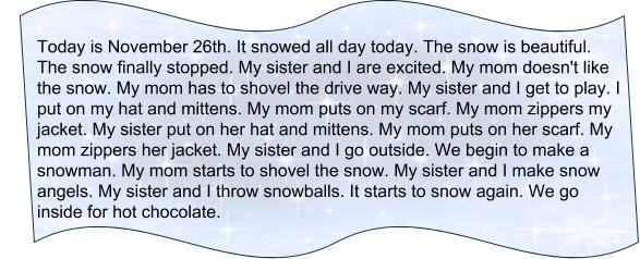 Snowfall текст про снегопад элементарный уровень