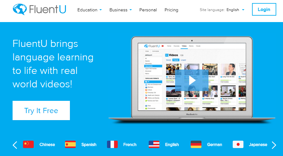 Использование приложений для изучения английского языка - FluentU