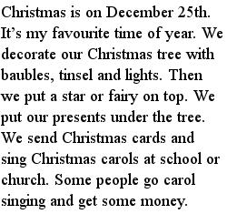 Рождество, рассказы на английском