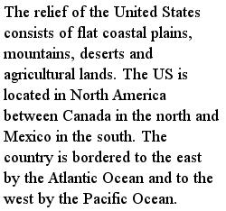 америка - Границы Америки, текст на английском