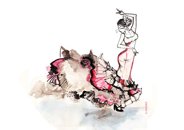 про танец на английском фламенко