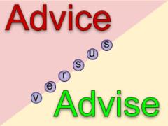 Advice и Advise - миниатюра к статье