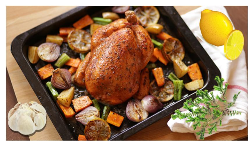 Рецепт курицы на английском (roast chicken)