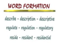 Словообразование - миниатюра к статье