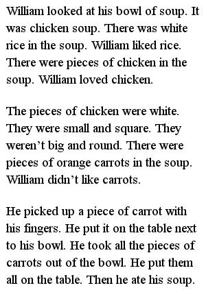Простые тексты для детей - Chicken Soup
