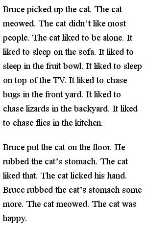 Простые тексты для детей - Happy cat