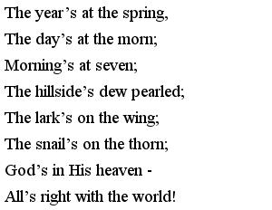 Стишки на английском для детей - Springs at the Morn