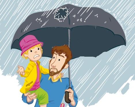 Загадки для детей на английском - зонтик с дыркой