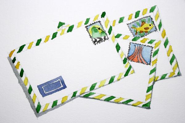 Письмо другу - миниатюра