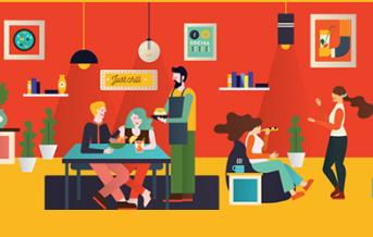 cafe - кафе, рассказ на английском для начинающих