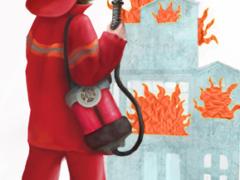 Фразовые глаголы тушить пожар: put out the fire