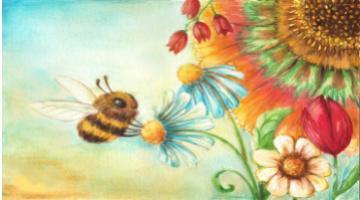 Пчела на английском - миниатюра к статье