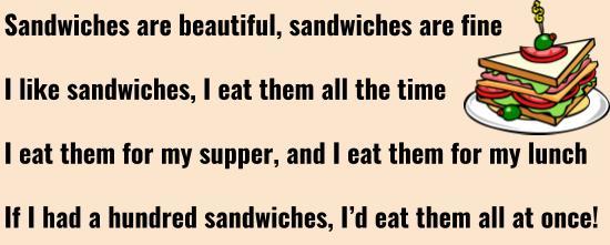 My favourite food is sandwich