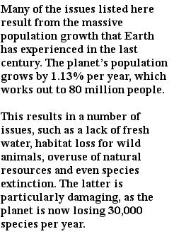 экологические проблемы - рост населения
