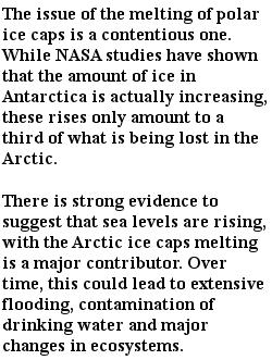 экологические проблемы - polar ice caps
