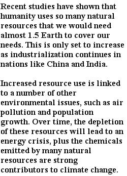 экологические проблемы - использование природных ресурсов