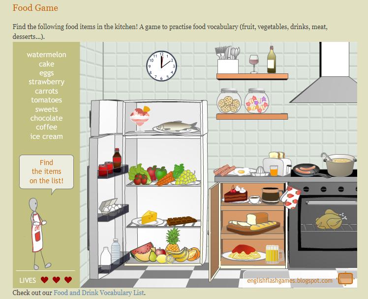 Игры для изучения английского - игра о еде