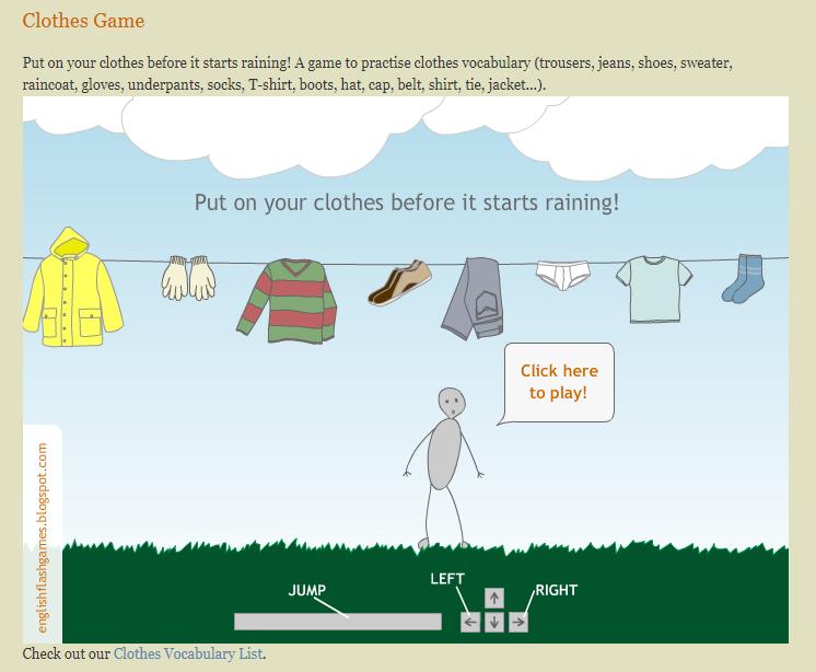 Игры для изучения английского - игра на название предметов одежды