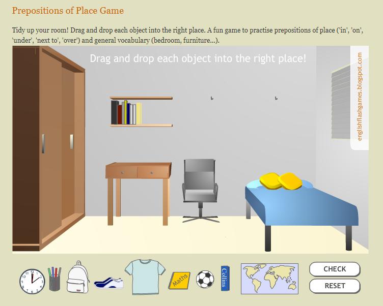 Игры для изучения английского - игра на предлоги места на английском