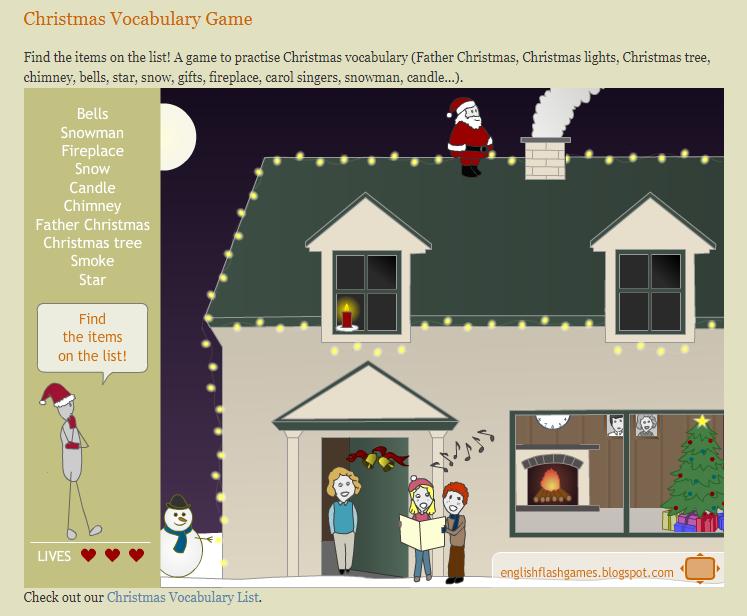 Игры для изучения английского - игра на рождество
