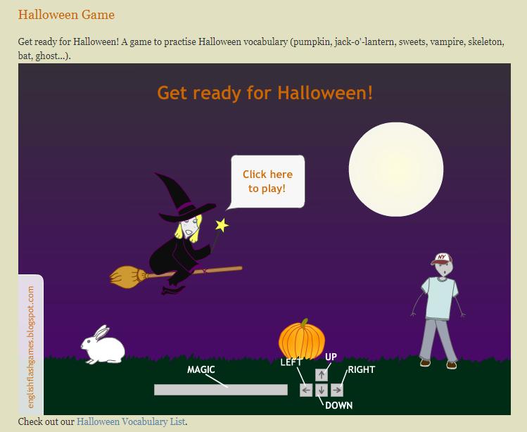 Игры для изучения английского - игра на хэллоуин